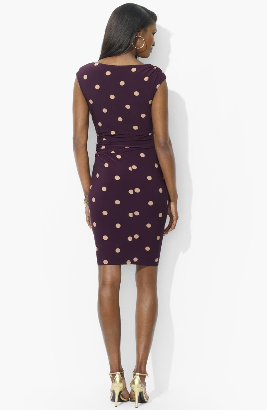 Alternate Image 2  - Lauren Ralph Lauren Polka Dot Jersey Dress