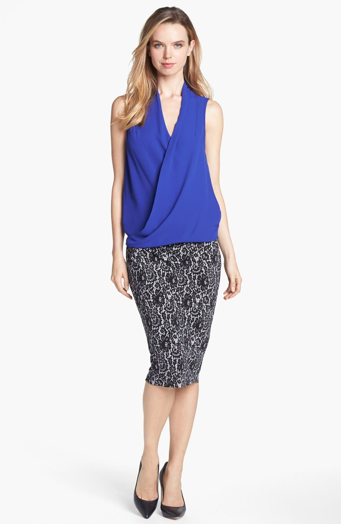 Main Image - Vince Camuto Sleeveless Faux Wrap Top