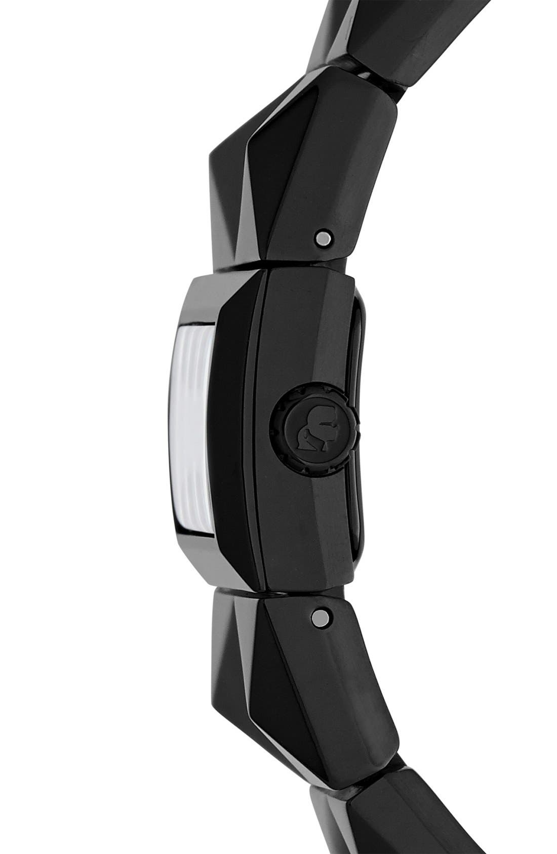 Alternate Image 3  - KARL LAGERFELD 'Perspektive' Pyramid Bracelet Watch, 27mm x 20mm