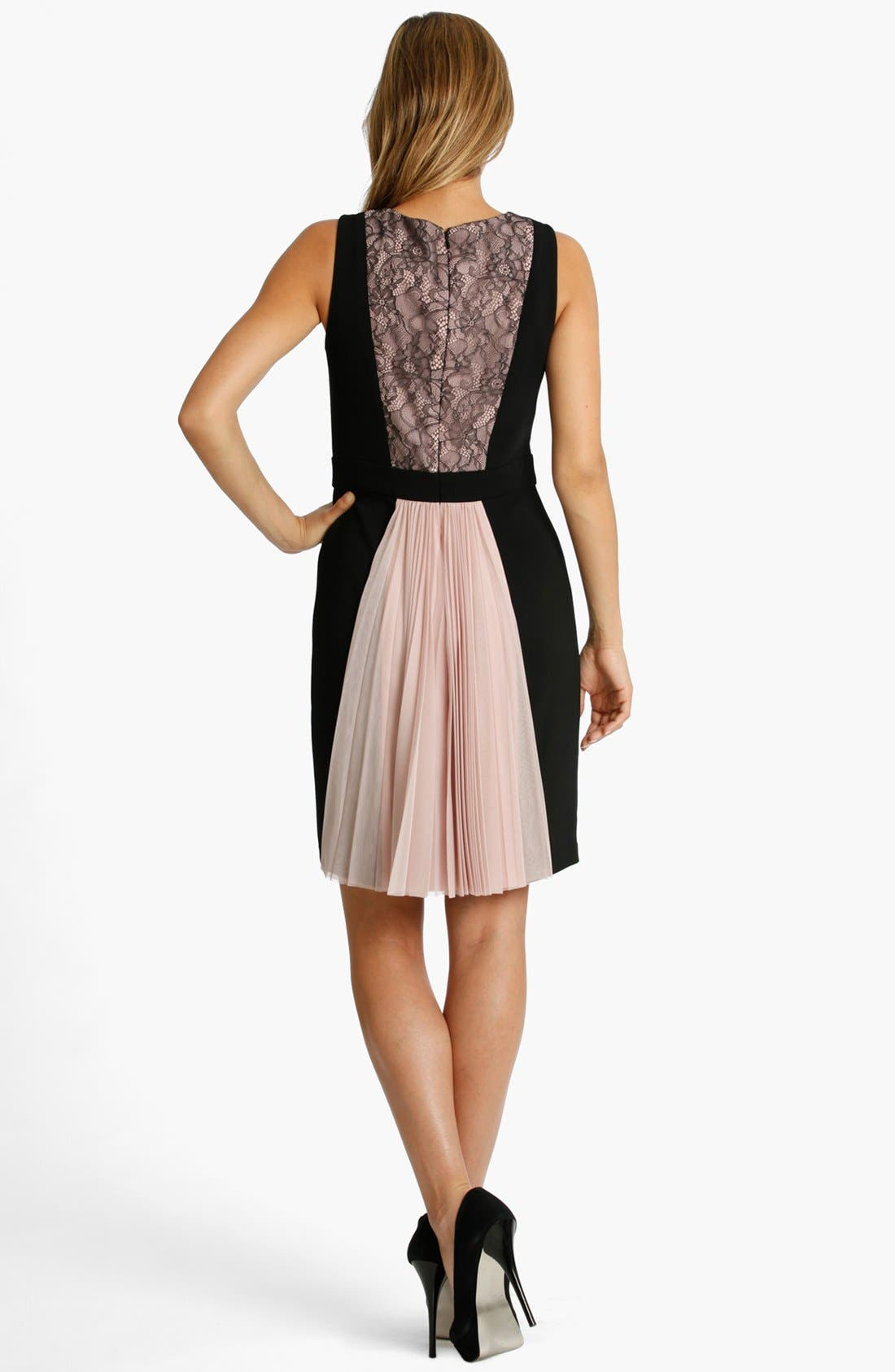 Alternate Image 2  - JS Collections Colorblock Mixed Media Dress