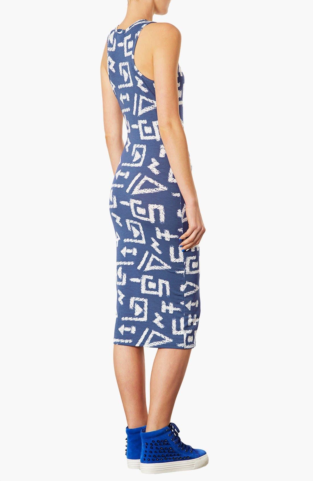 Alternate Image 2  - Topshop 'Egypt Graffiti' Print Midi Tank Dress