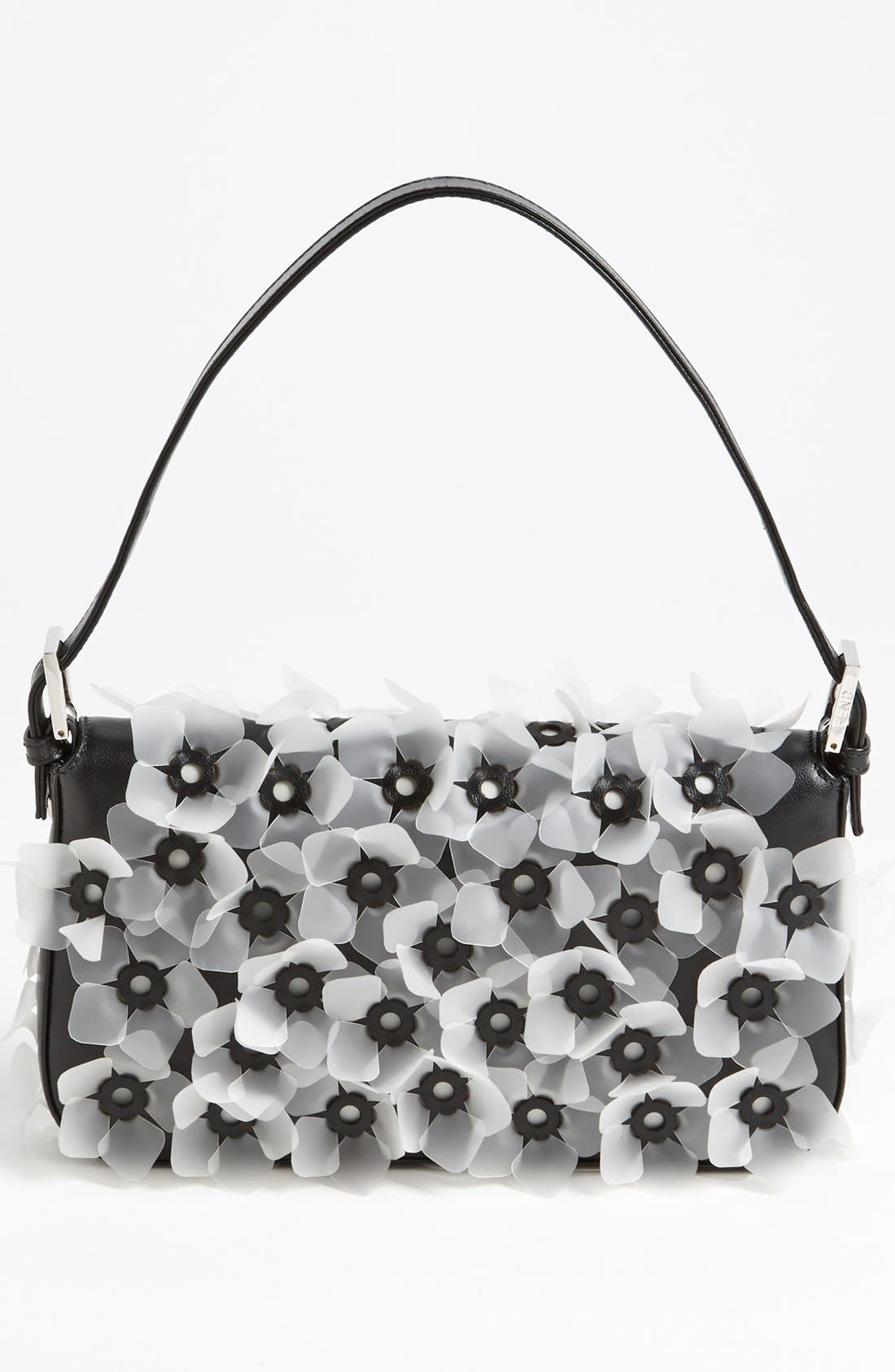 Alternate Image 4  - Fendi 'Flower' Leather Baguette
