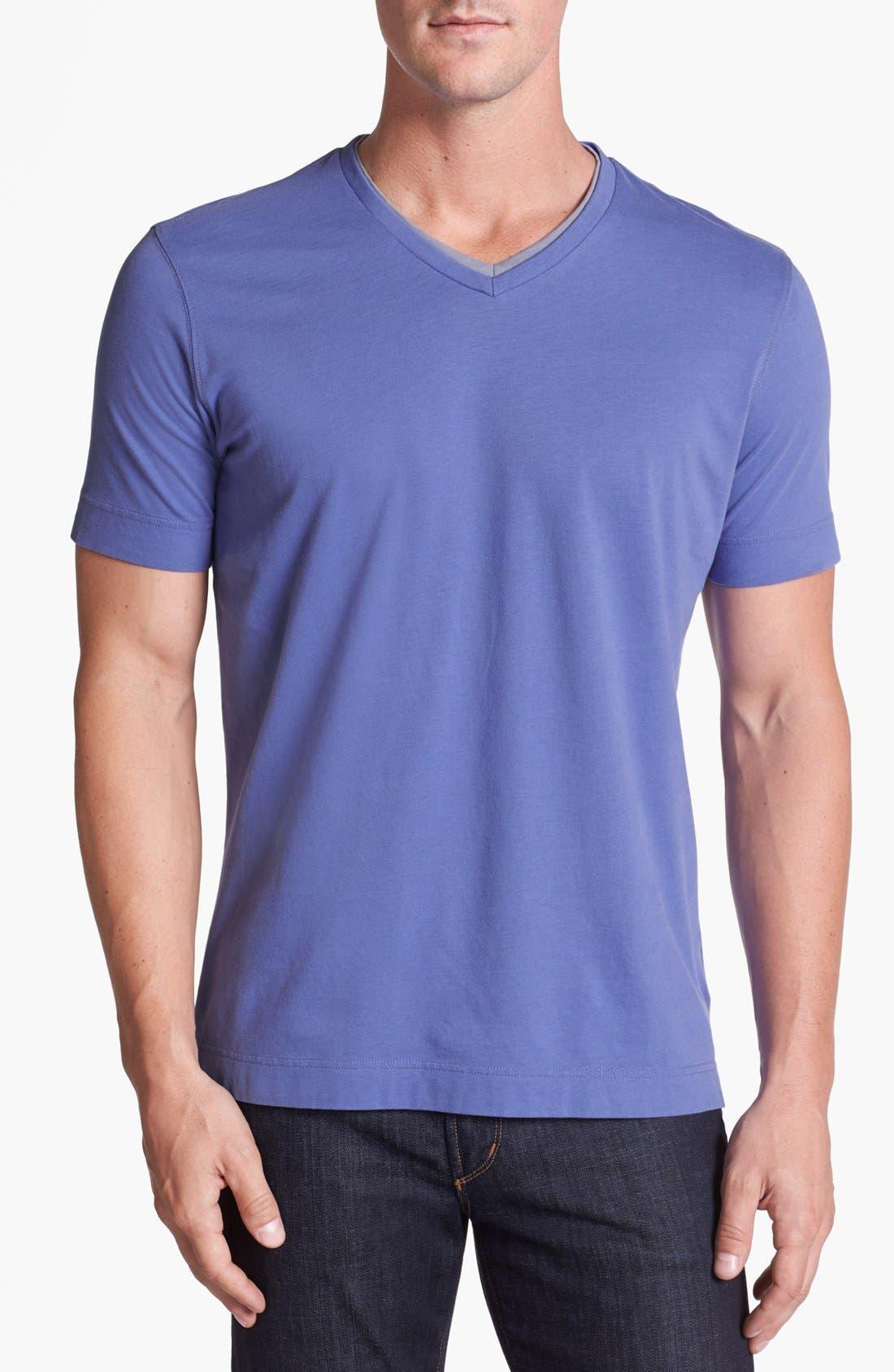 Alternate Image 1 Selected - Robert Barakett 'Adam' Double V-Neck T-Shirt