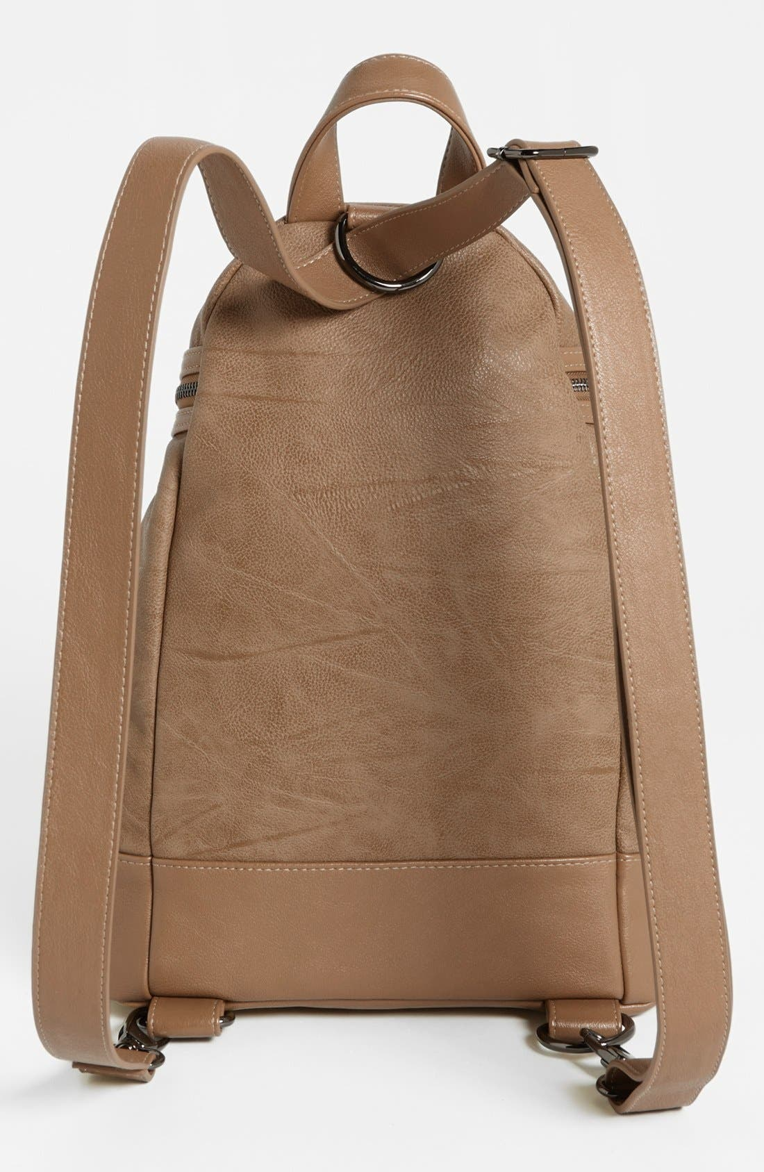 Alternate Image 4  - POVERTY FLATS by rian Faux Leather Backpack