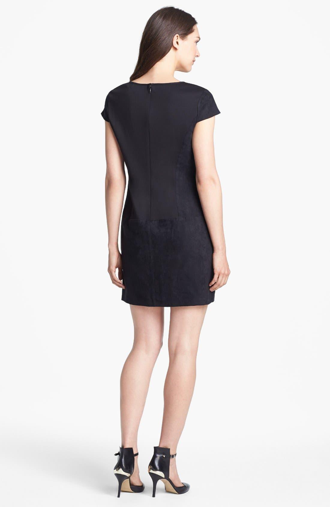Alternate Image 2  - Jessica Simpson Laser Cut Faux Suede Shift Dress (Online Only)