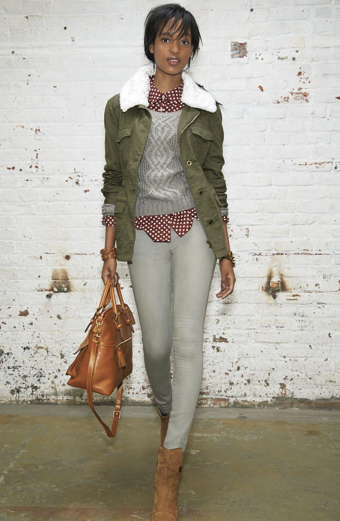 Alternate Image 7  - KUT from the Kloth 'Jennifer' Skinny Jeans (Taupe Grey)
