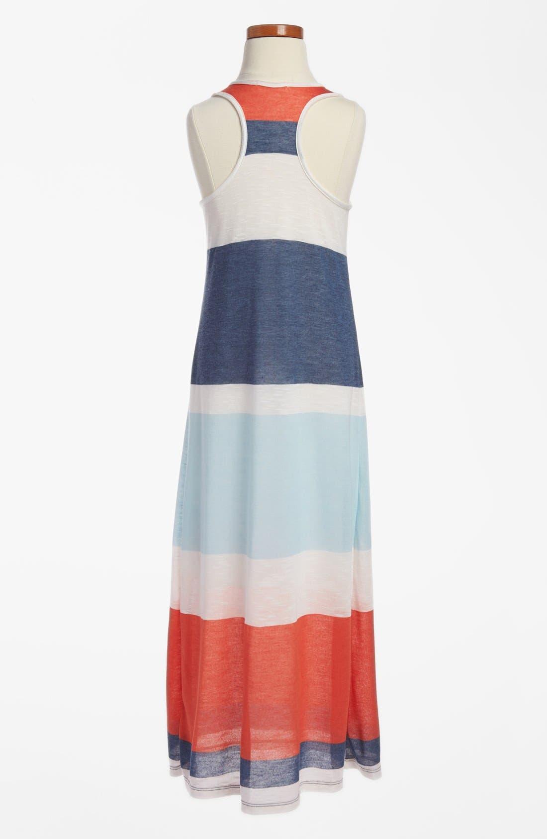 Alternate Image 2  - Soprano Stripe Maxi Dress (Little Girls & Big Girls)