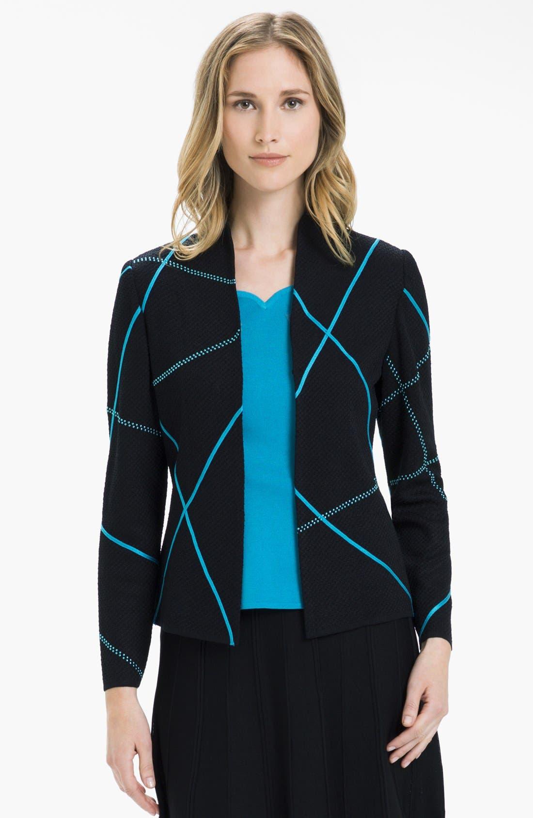 Alternate Image 1 Selected - Ming Wang Embellished Mock Neck Jacket