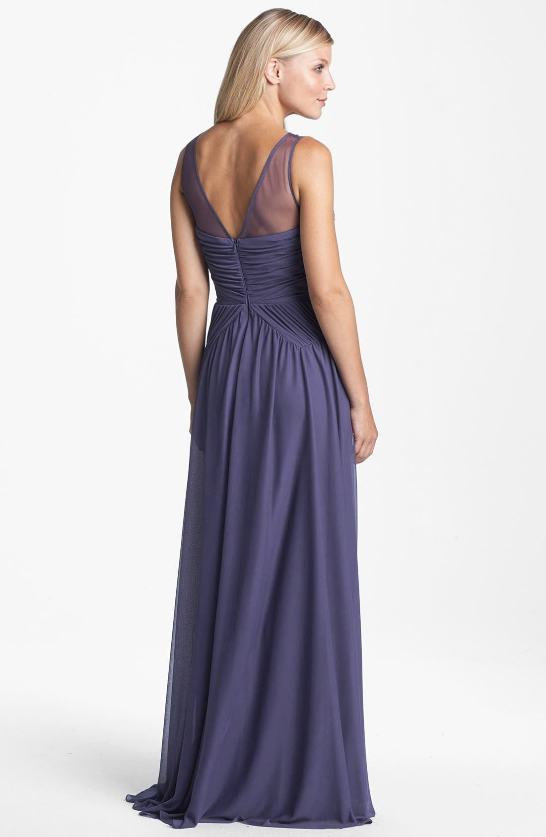 Alternate Image 2  - Adrianna Papell Stretch Tulle Gown