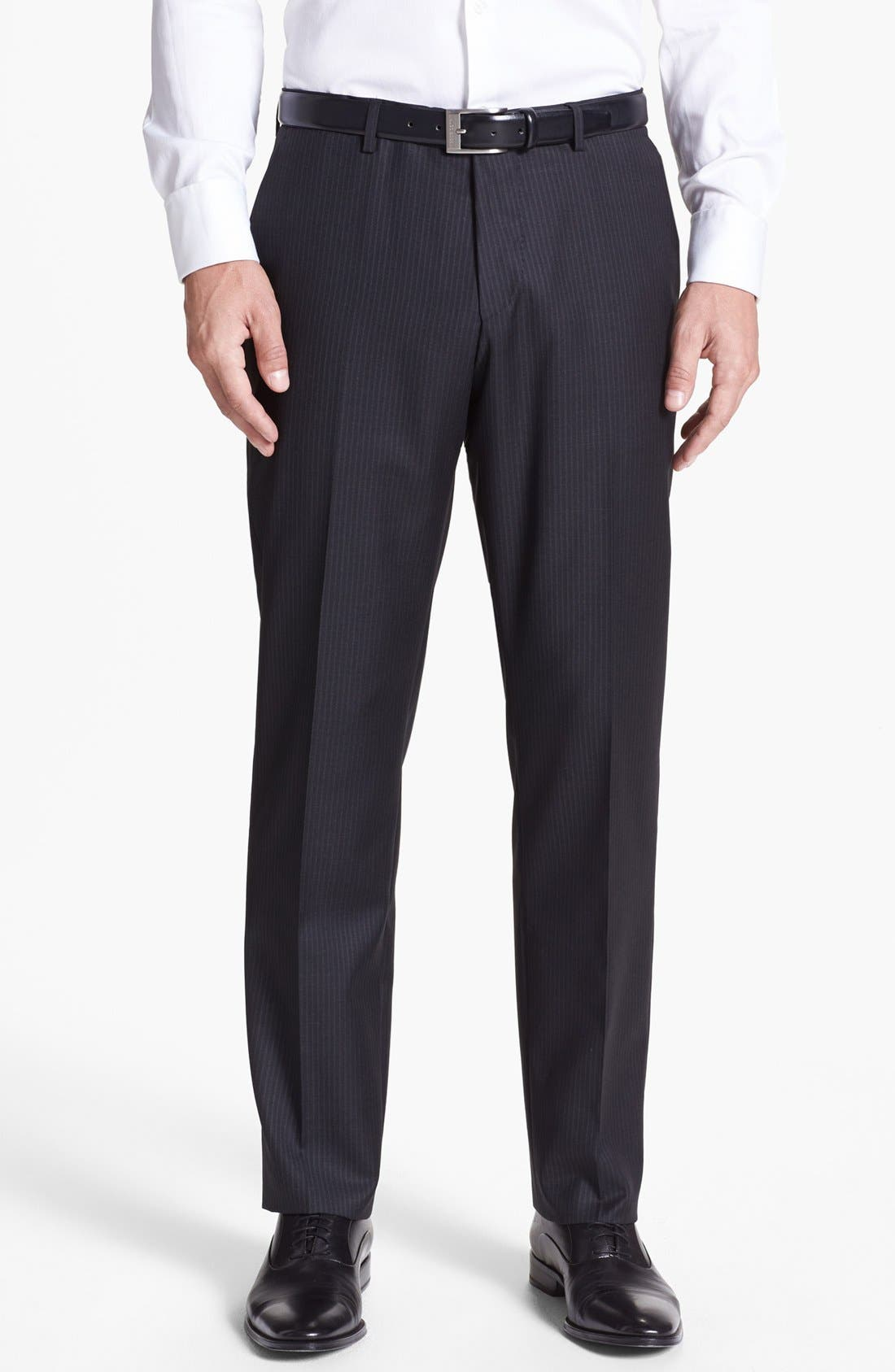 Alternate Image 5  - BOSS HUGO BOSS 'Howard/Court' Trim Fit Three Piece Suit