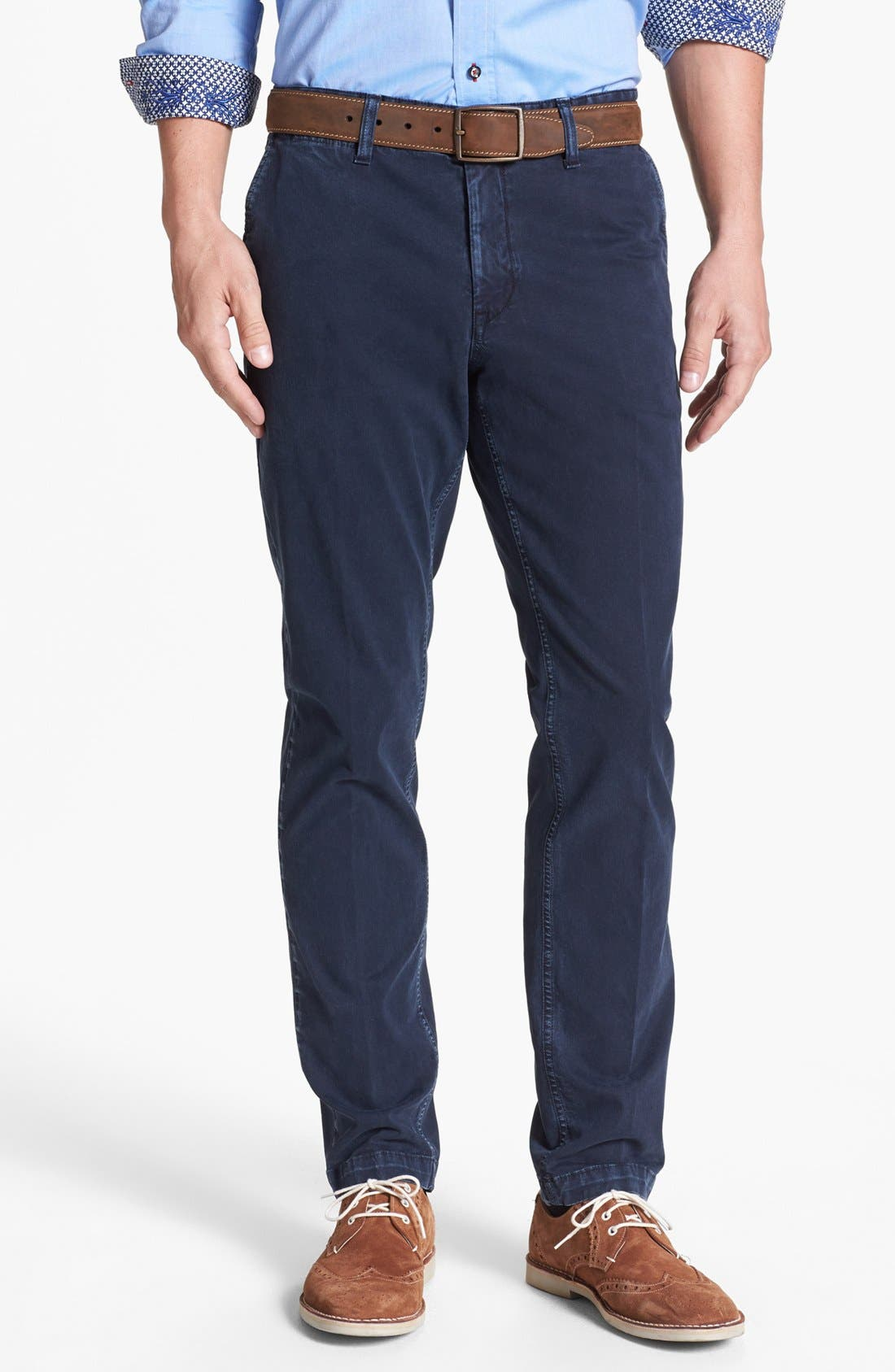 Alternate Image 1 Selected - Moods of Norway 'Pedar' Slim Straight Stretch Pants