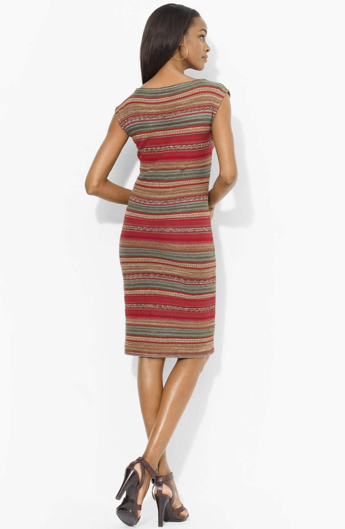 Alternate Image 2  - Lauren Ralph Lauren Bateau Neck Stripe Dress