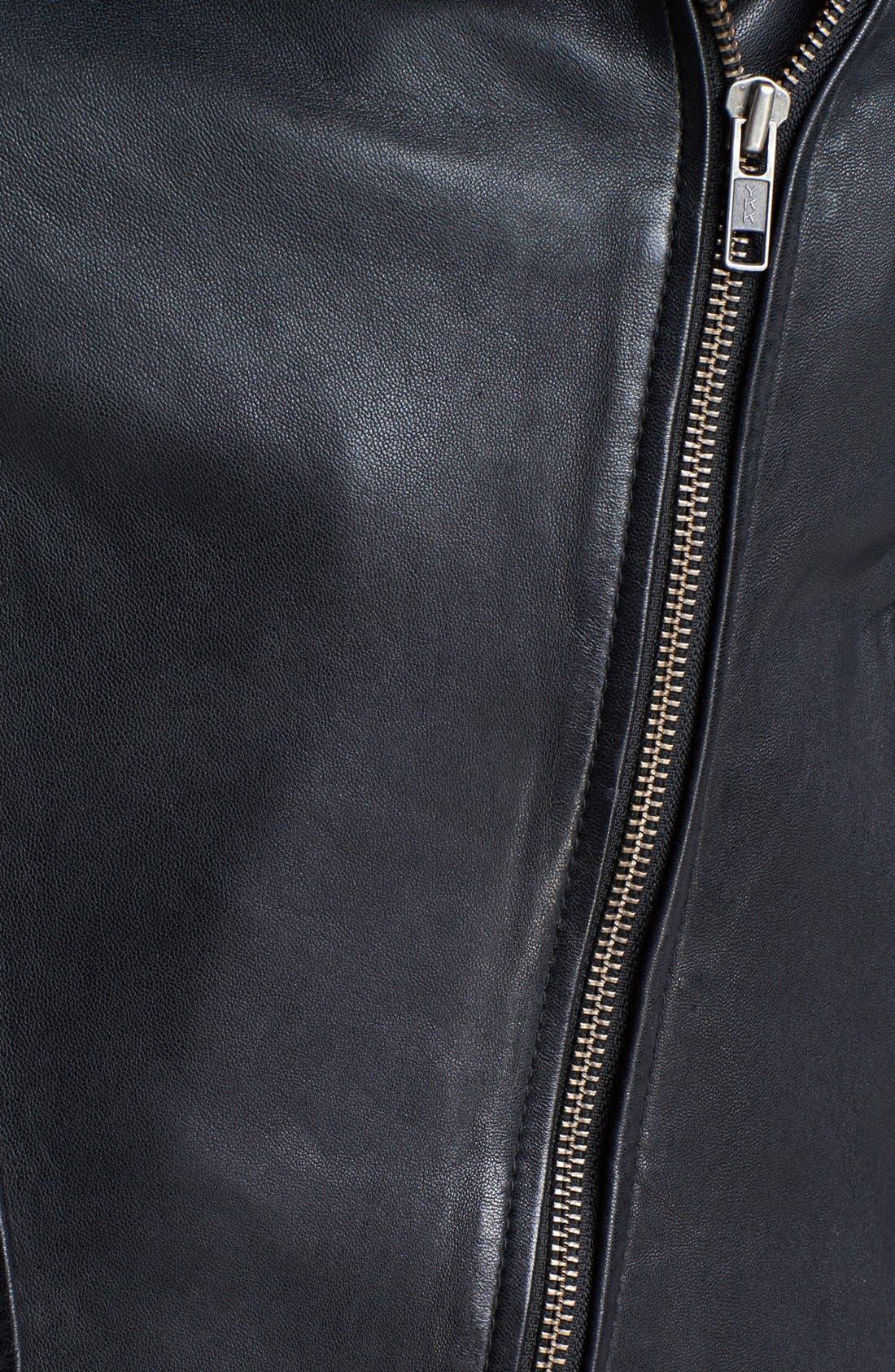 Alternate Image 3  - Soia & Kyo Zip Collar Leather Jacket