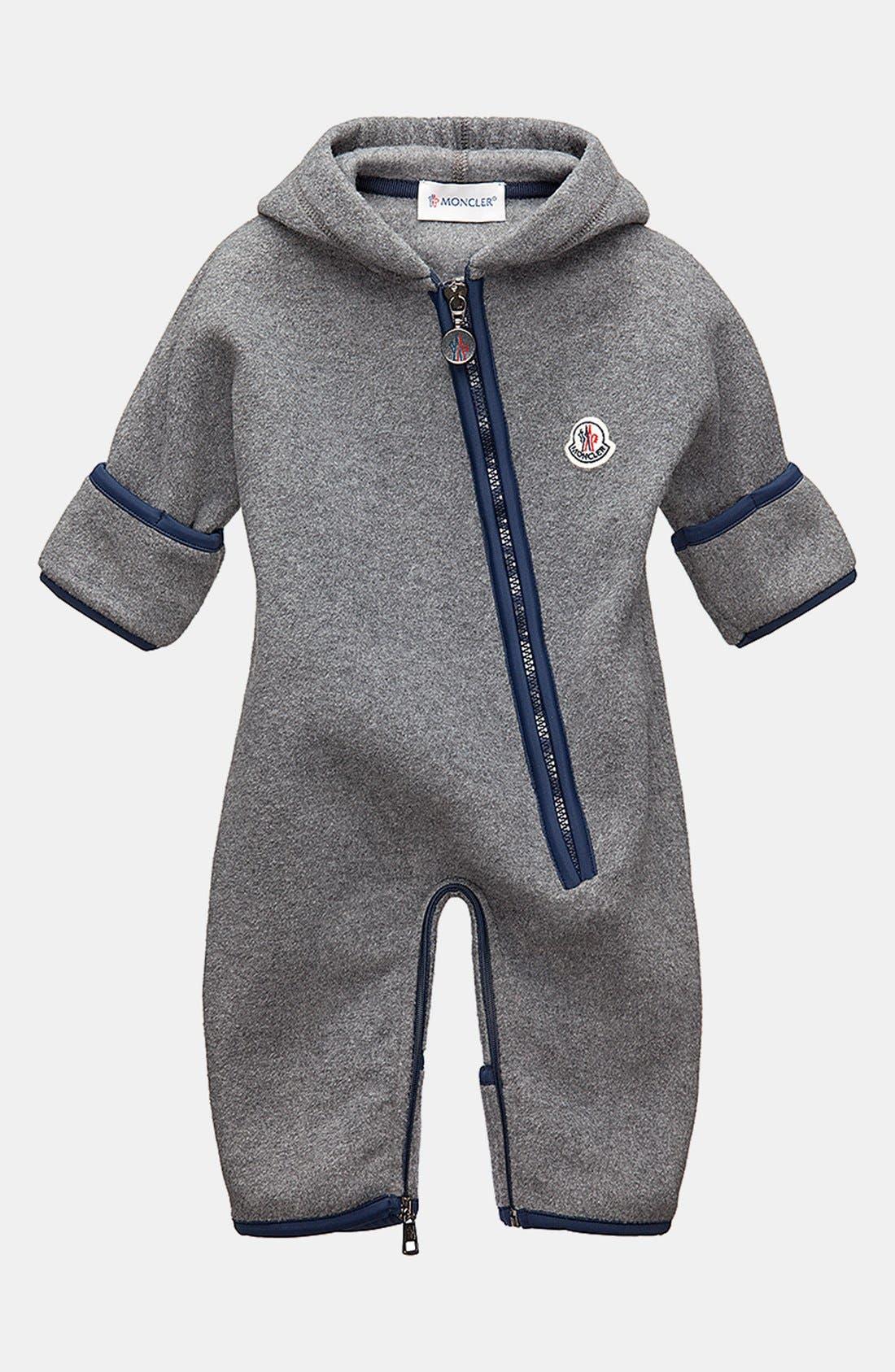 Main Image - Moncler Fleece Bunting (Baby Boys)