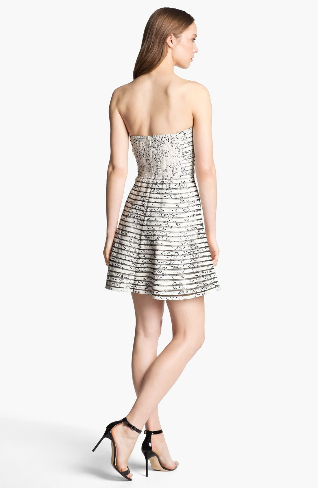 Alternate Image 2  - Parker 'Molly' Strapless Fit & Flare Dress