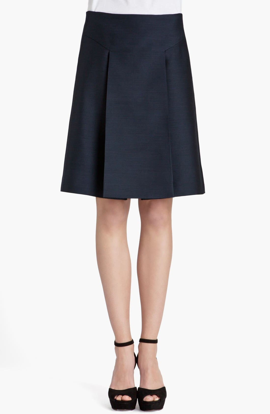 Alternate Image 1 Selected - Marni Front Pleat Organza Skirt