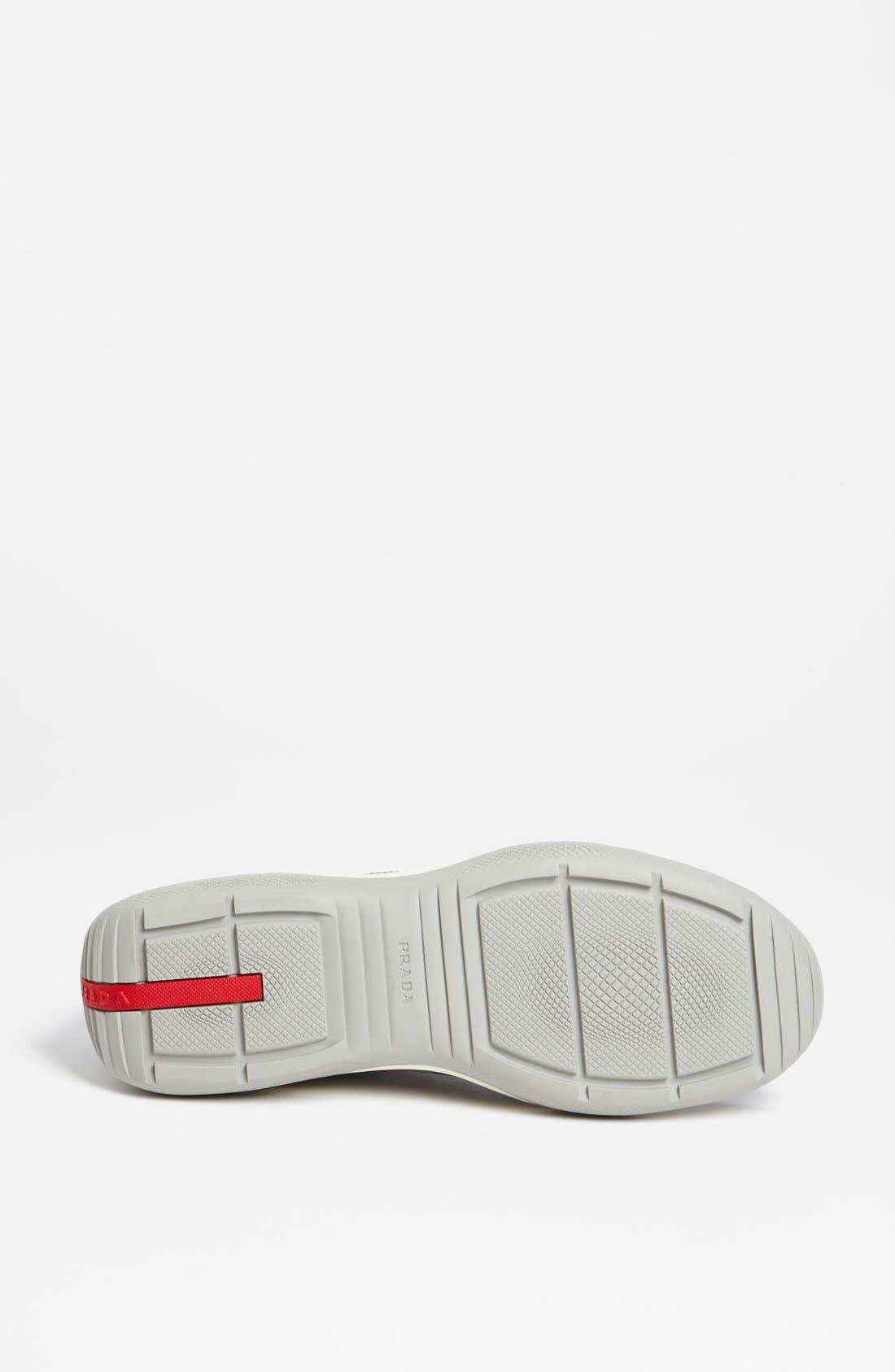 Alternate Image 4  - Prada 'Punta Ala' Mesh & Leather Sneaker (Men)