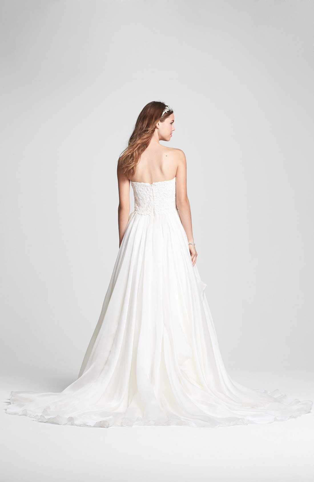 Alternate Image 2  - Rosa Clara 'Belleza' Lace & Layered Organza Ballgown (In Stores Only)