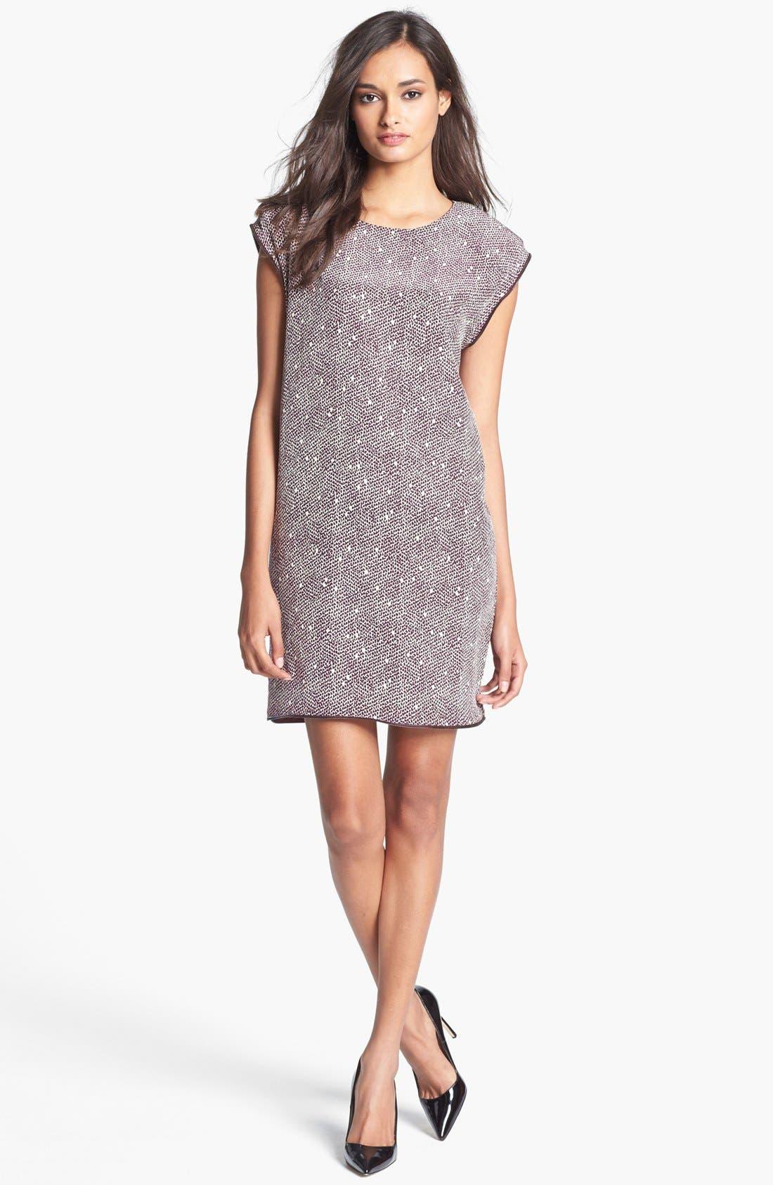 Alternate Image 1 Selected - Rachel Roy 'Zip Tape' Silk Shift Dress