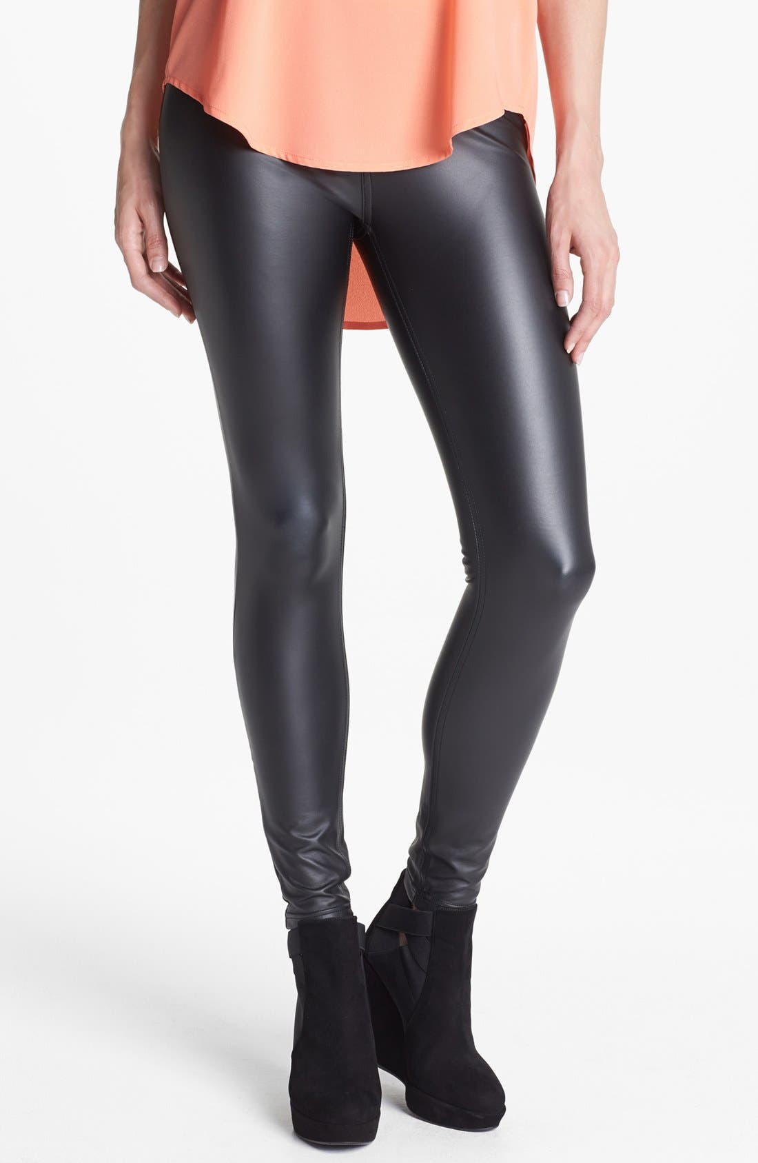 Alternate Image 1 Selected - Hue 'Leatherette' Leggings