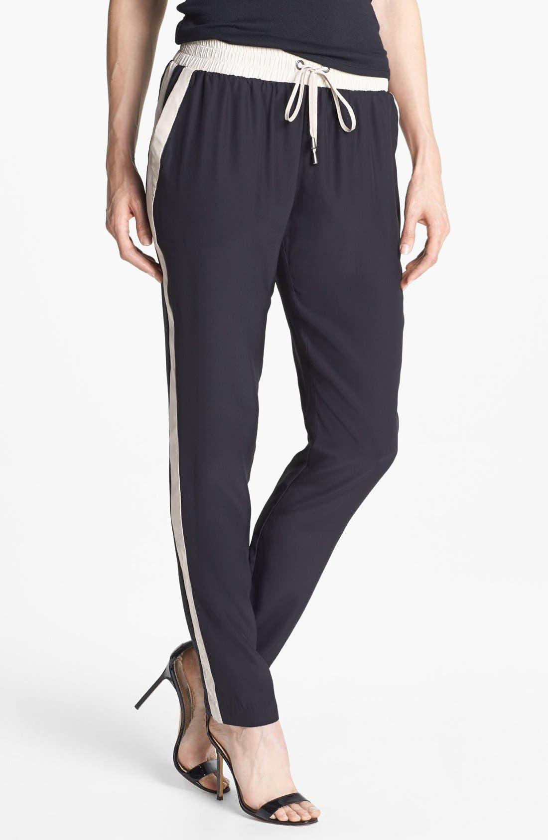 Alternate Image 1 Selected - Parker 'Side Stripe' Silk Pants