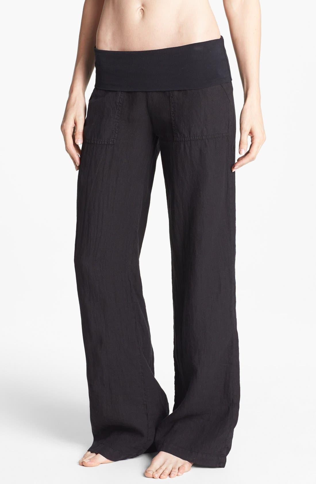 Alternate Image 1 Selected - Solow Wide Leg Linen Pants
