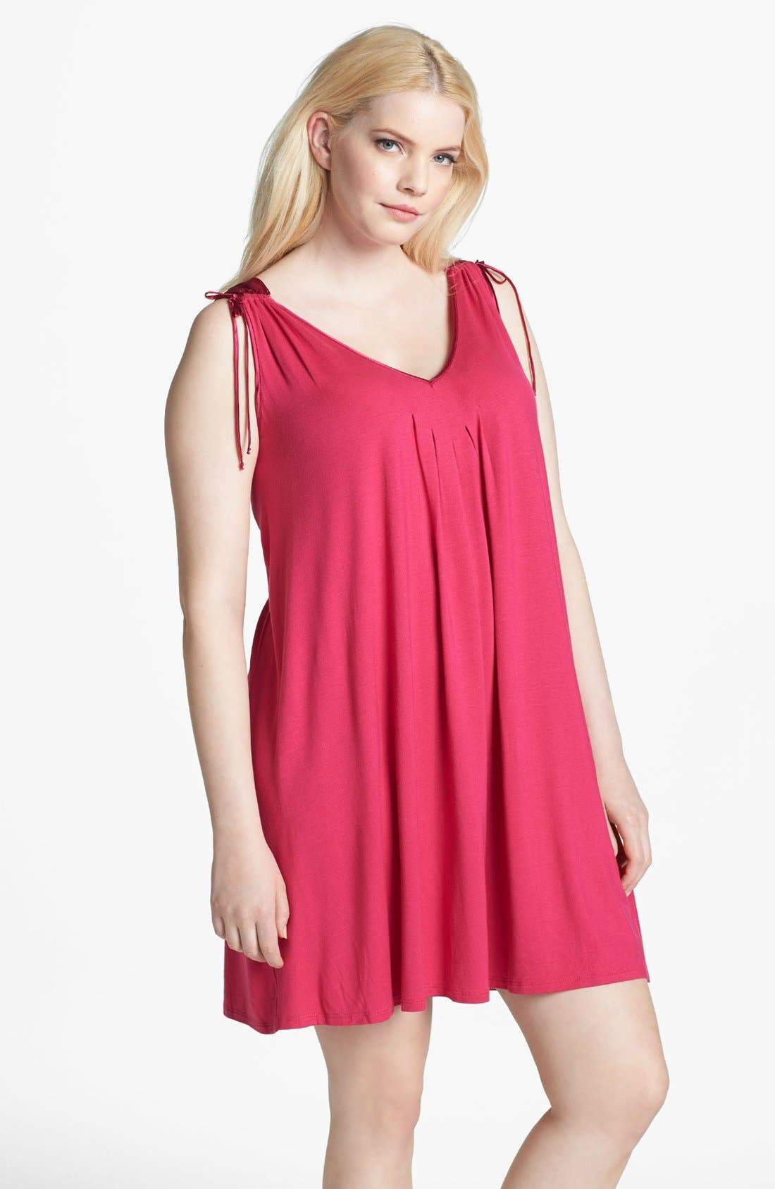 Main Image - Midnight by Carole Hochman 'After Dark' Chemise (Plus Size)