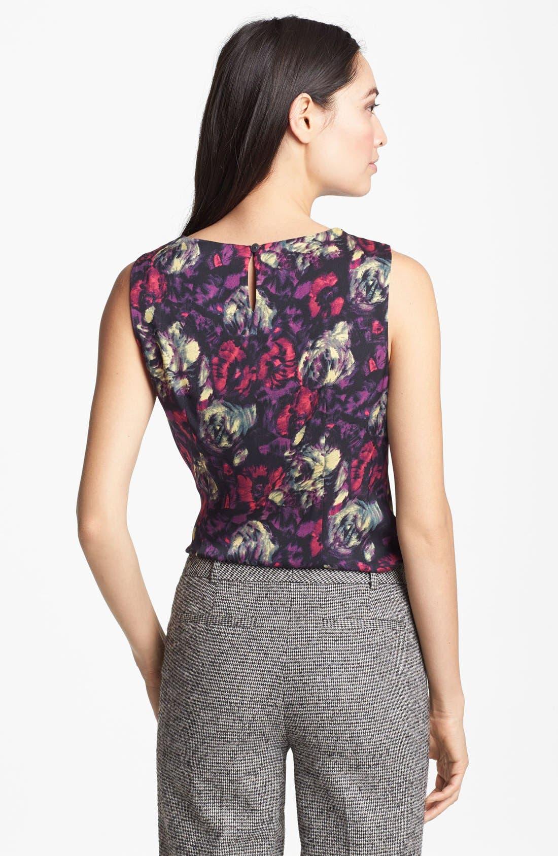 Alternate Image 2  - Classiques Entier® Twist Neck Stretch Silk Blouse
