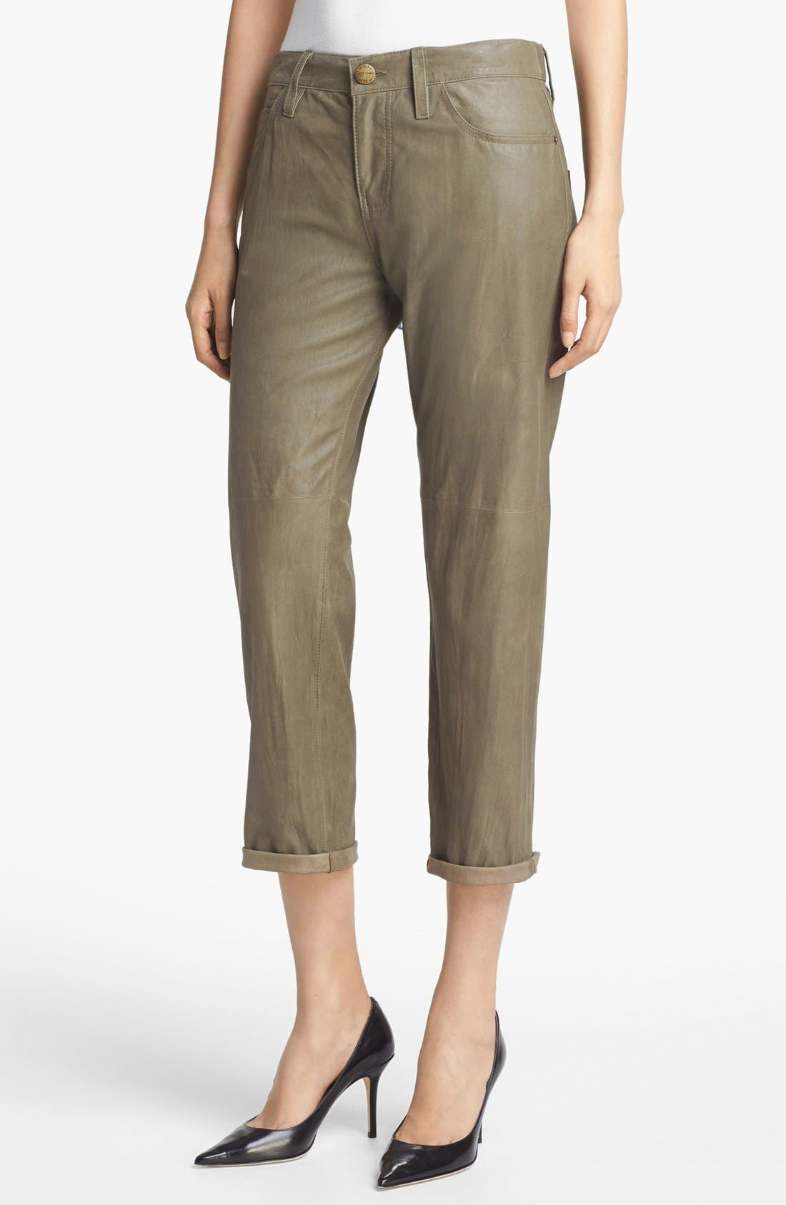 Main Image - Current/Elliott 'The Boyfriend' Featherweight Leather Pants