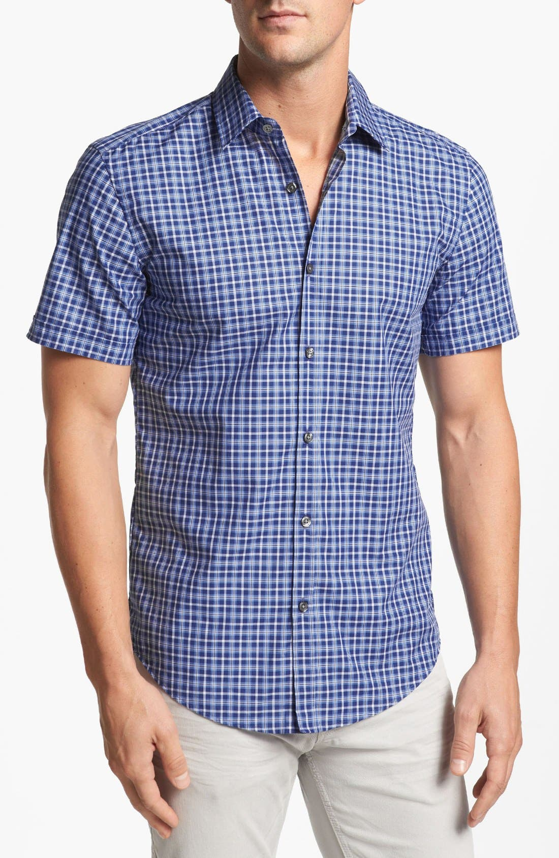 Alternate Image 1 Selected - BOSS HUGO BOSS 'Marc' Slim Fit Sport Shirt