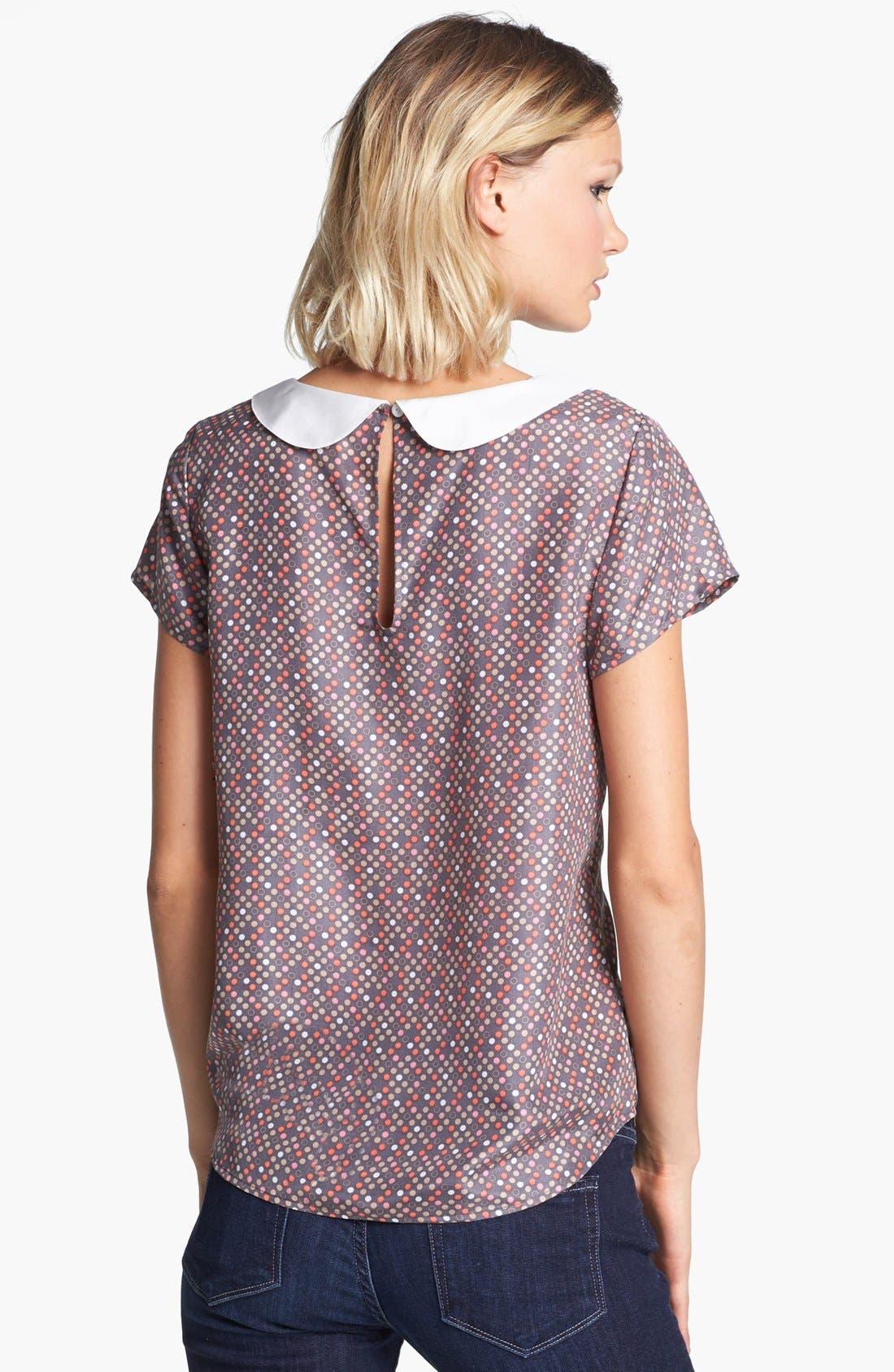 Alternate Image 2  - Hinge® Dot Print Collar Top