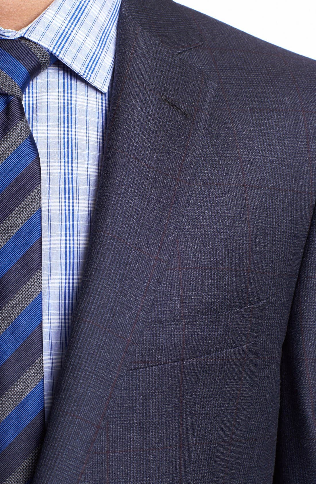 Alternate Image 2  - BOSS HUGO BOSS 'Howard/Court' Trim Fit Plaid Suit