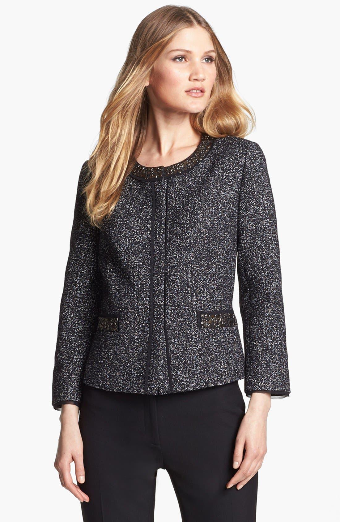 Alternate Image 1 Selected - Classiques Entier® 'Monte Weave' Embellished Jacket