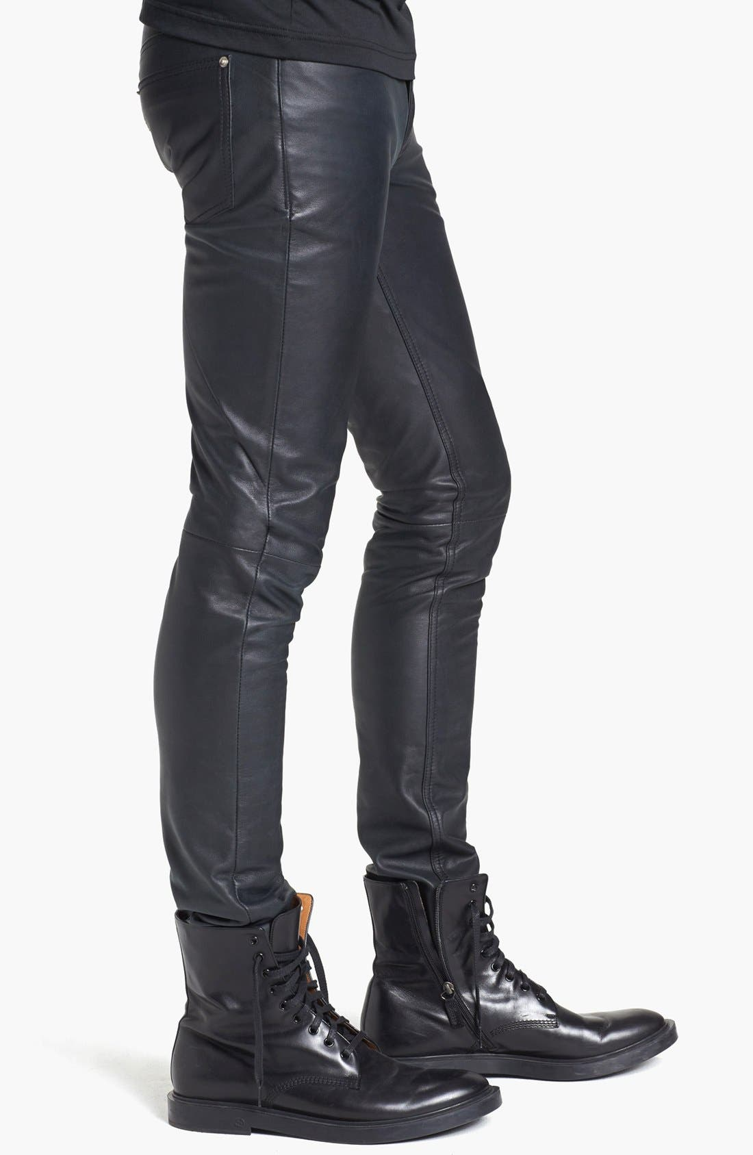 Alternate Image 3  - BLK DNM 'Rock N Roll' Skinny Fit Leather Pants