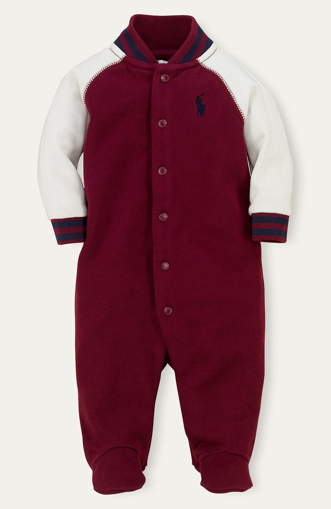 Alternate Image 1 Selected - Ralph Lauren Colorblock Footie (Baby Boys)