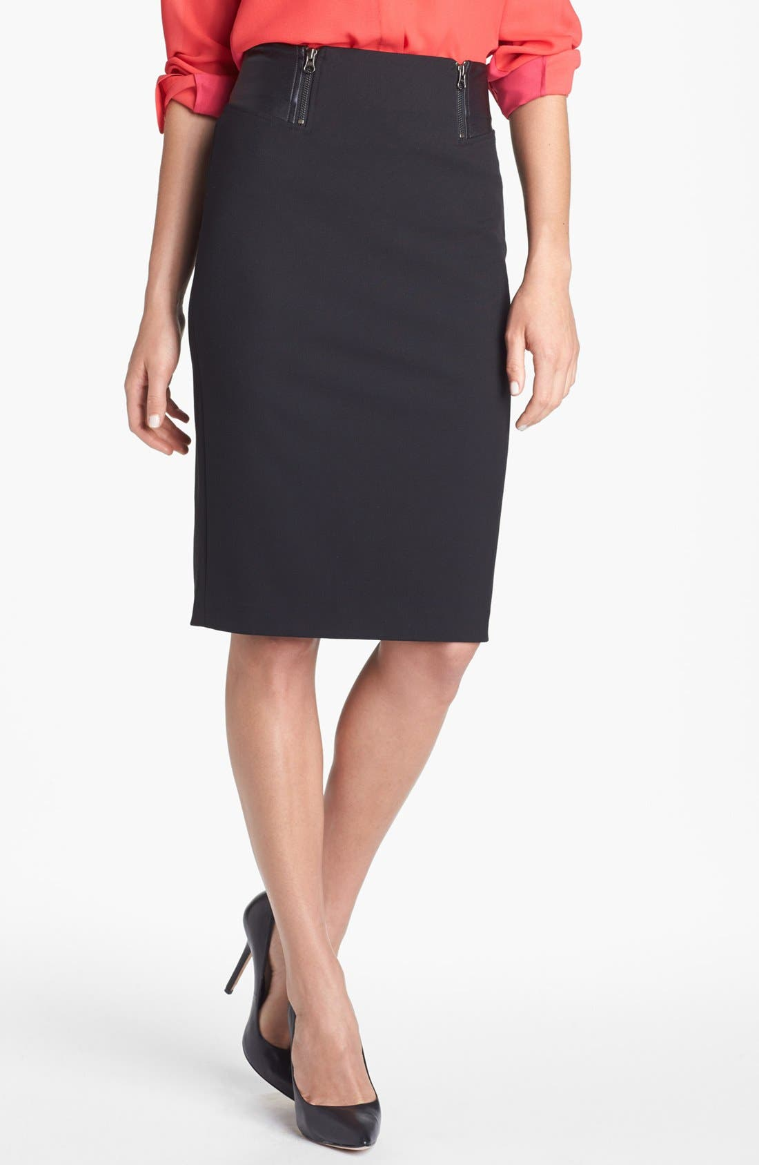 Alternate Image 2  - Halogen® Faux Leather Waist Pencil Skirt