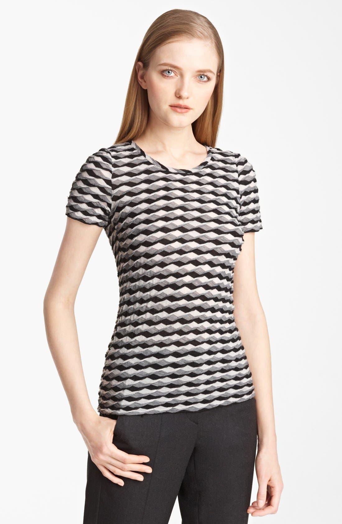 Main Image - Armani Collezioni Geometric Wave Knit Jersey Top