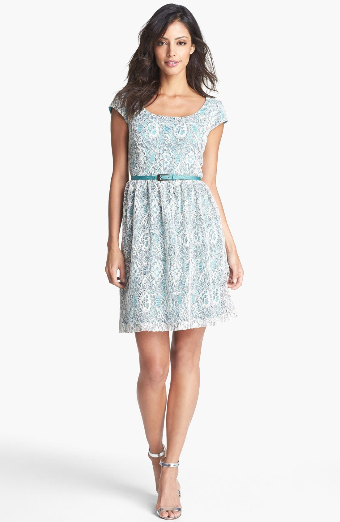 Main Image - Ivy & Blu Lace Fit & Flare Dress