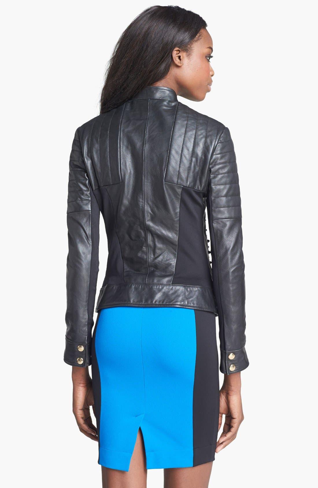 Alternate Image 4  - Just Cavalli Leather Moto Jacket
