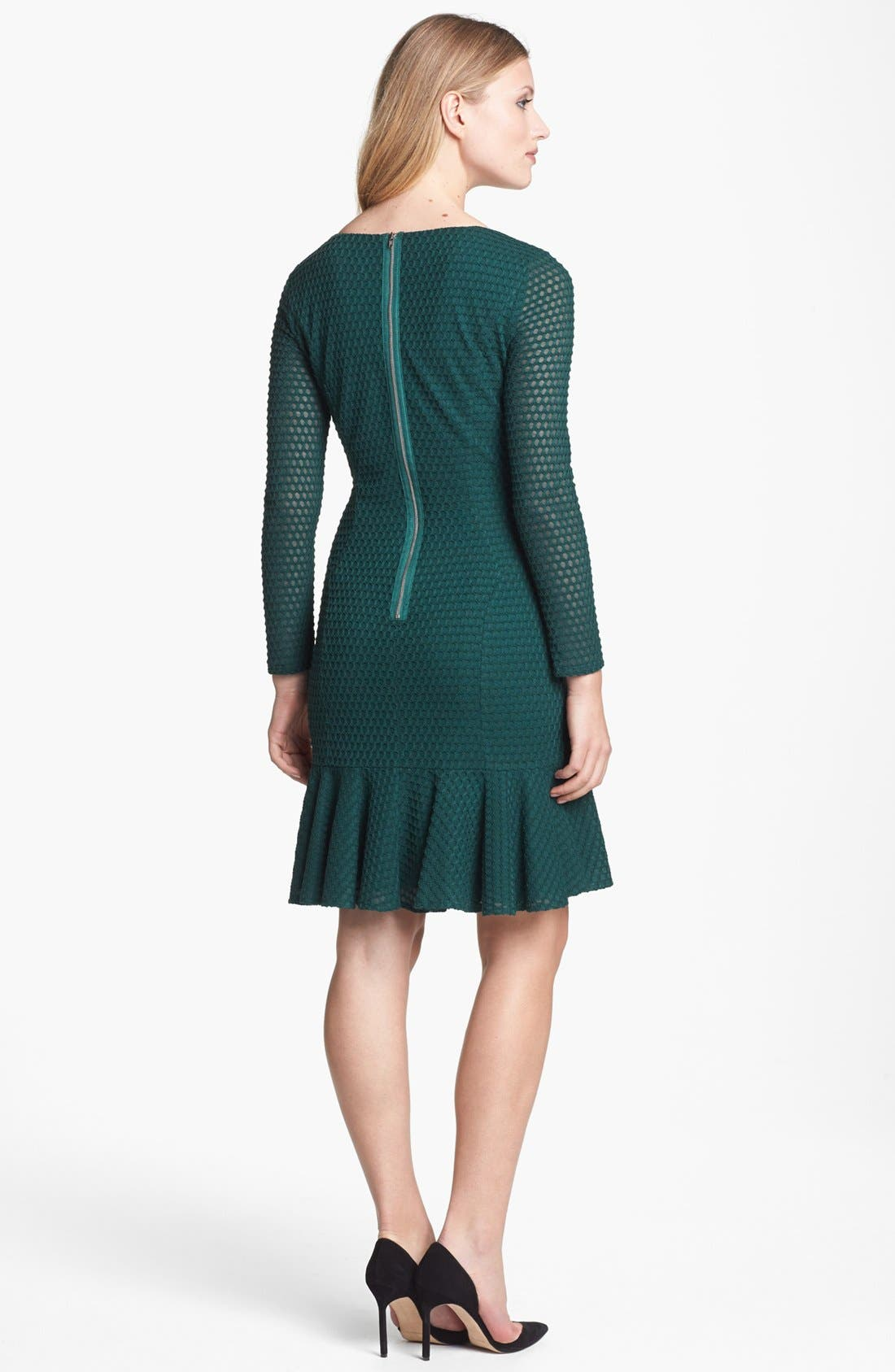 Alternate Image 2  - Maggy London Honeycomb Piqué Seamed Fit & Flare Dress
