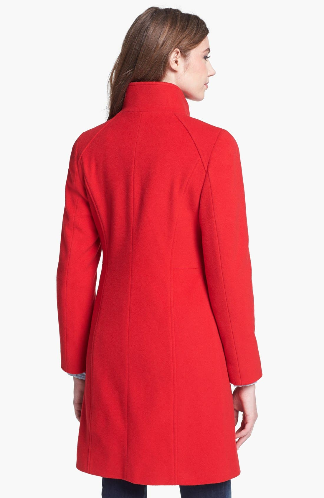 Alternate Image 2  - Cinzia Rocca Due Stand Collar Wool & Cashmere Blend Walking Coat (Petite)