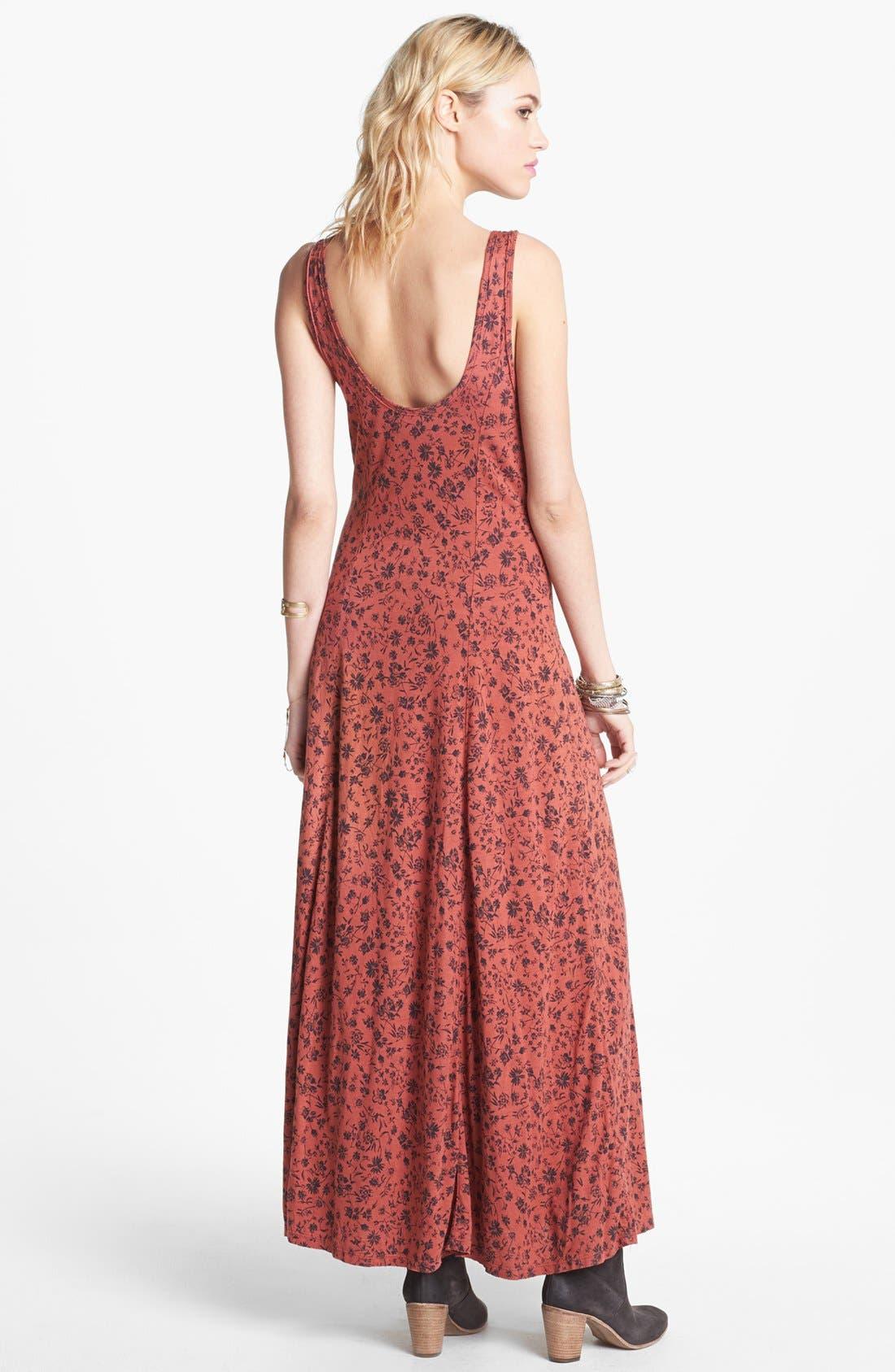 Alternate Image 2  - Free People 'Gold Coast' Floral Maxi Dress