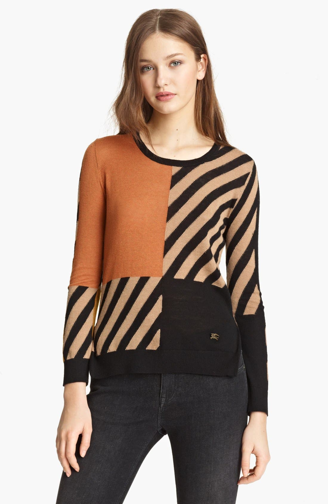 Main Image - Burberry Brit Colorblock Sweater (Online Only)