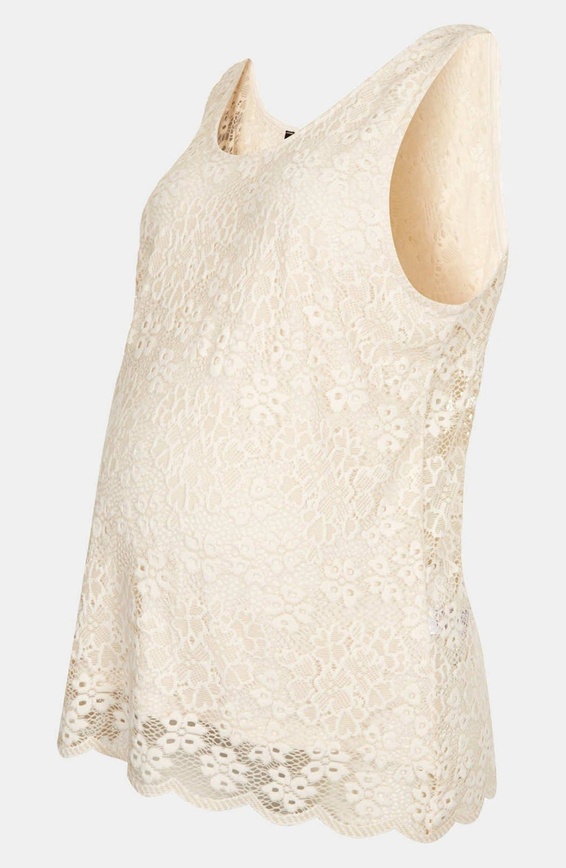 Alternate Image 1 Selected - Topshop Lace Maternity Tank
