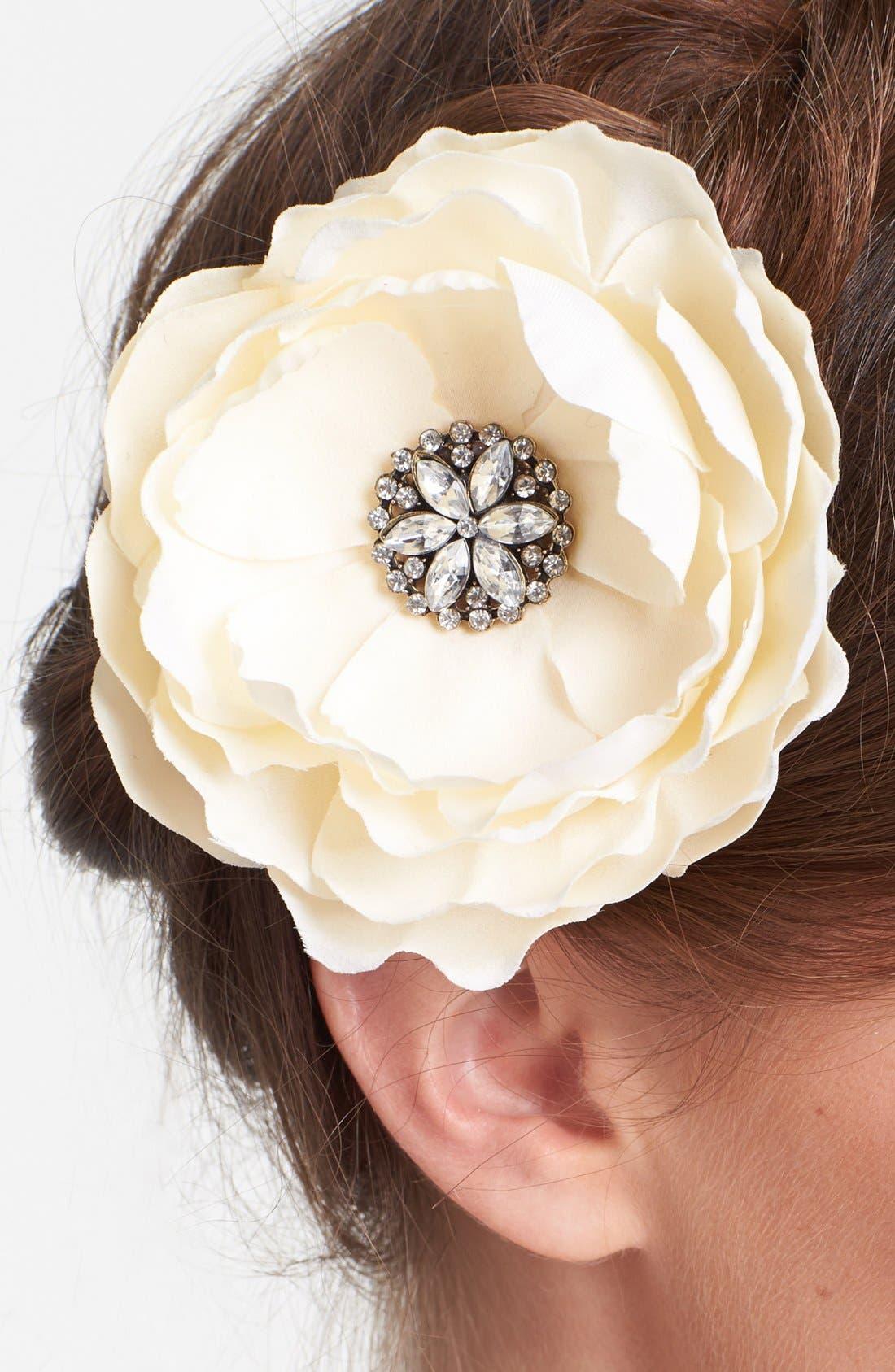 Alternate Image 2  - Whichgoose Magnolia Hair Clip