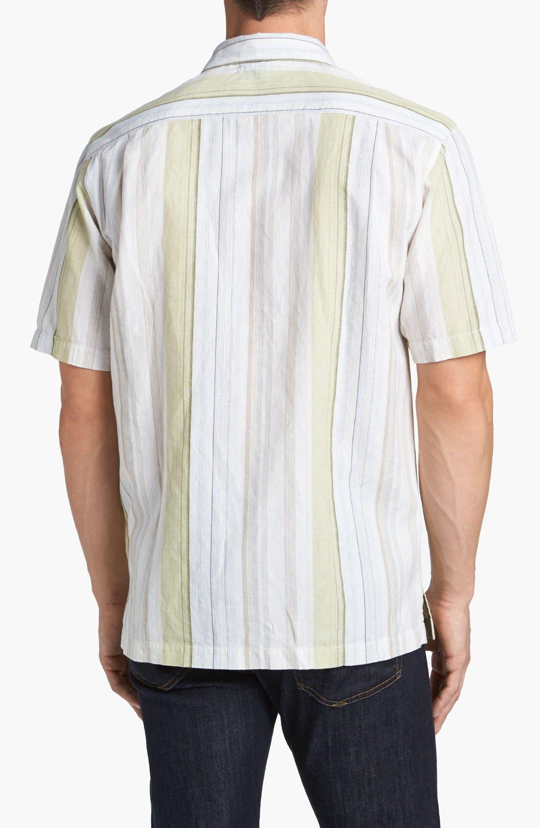 Alternate Image 2  - Tommy Bahama 'Tide Garden' Linen Blend Campshirt