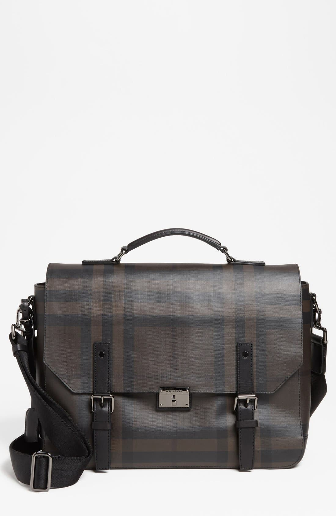 Alternate Image 1 Selected - Burberry 'Grifford' Check Print Messenger Bag