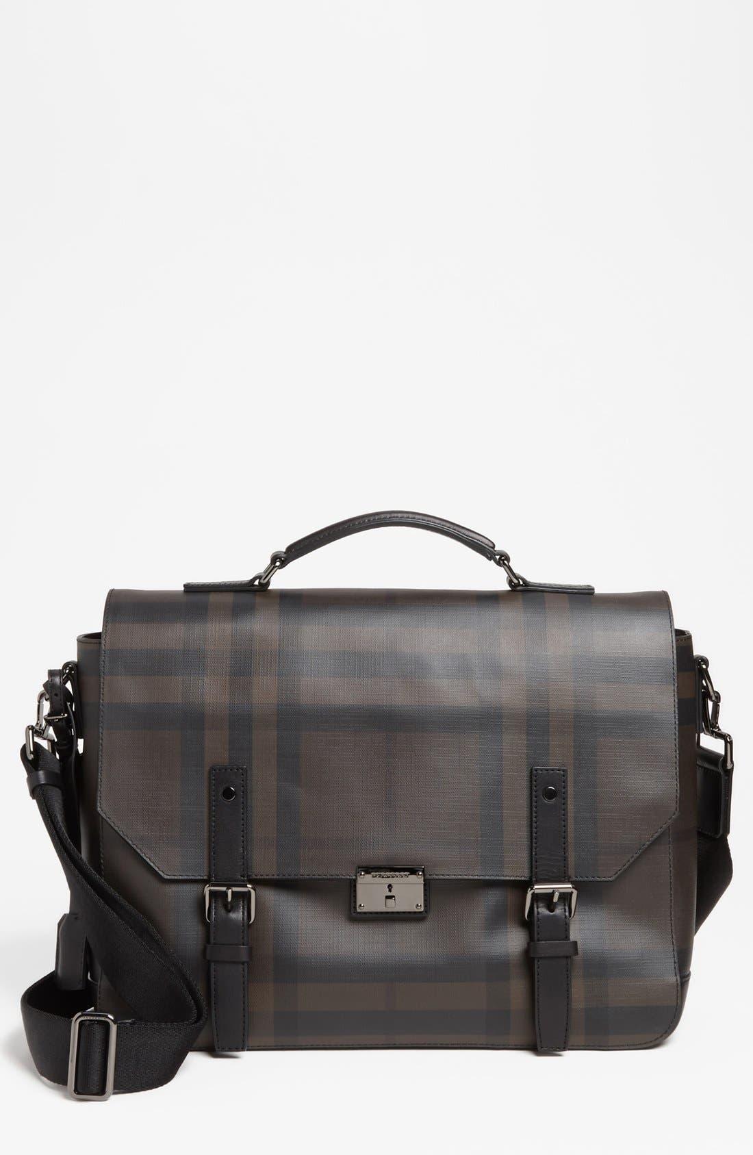 Main Image - Burberry 'Grifford' Check Print Messenger Bag