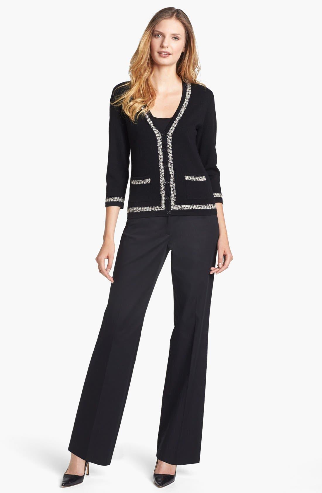 Alternate Image 3  - Classiques Entier® Tweed Trim V-Neck Cardigan