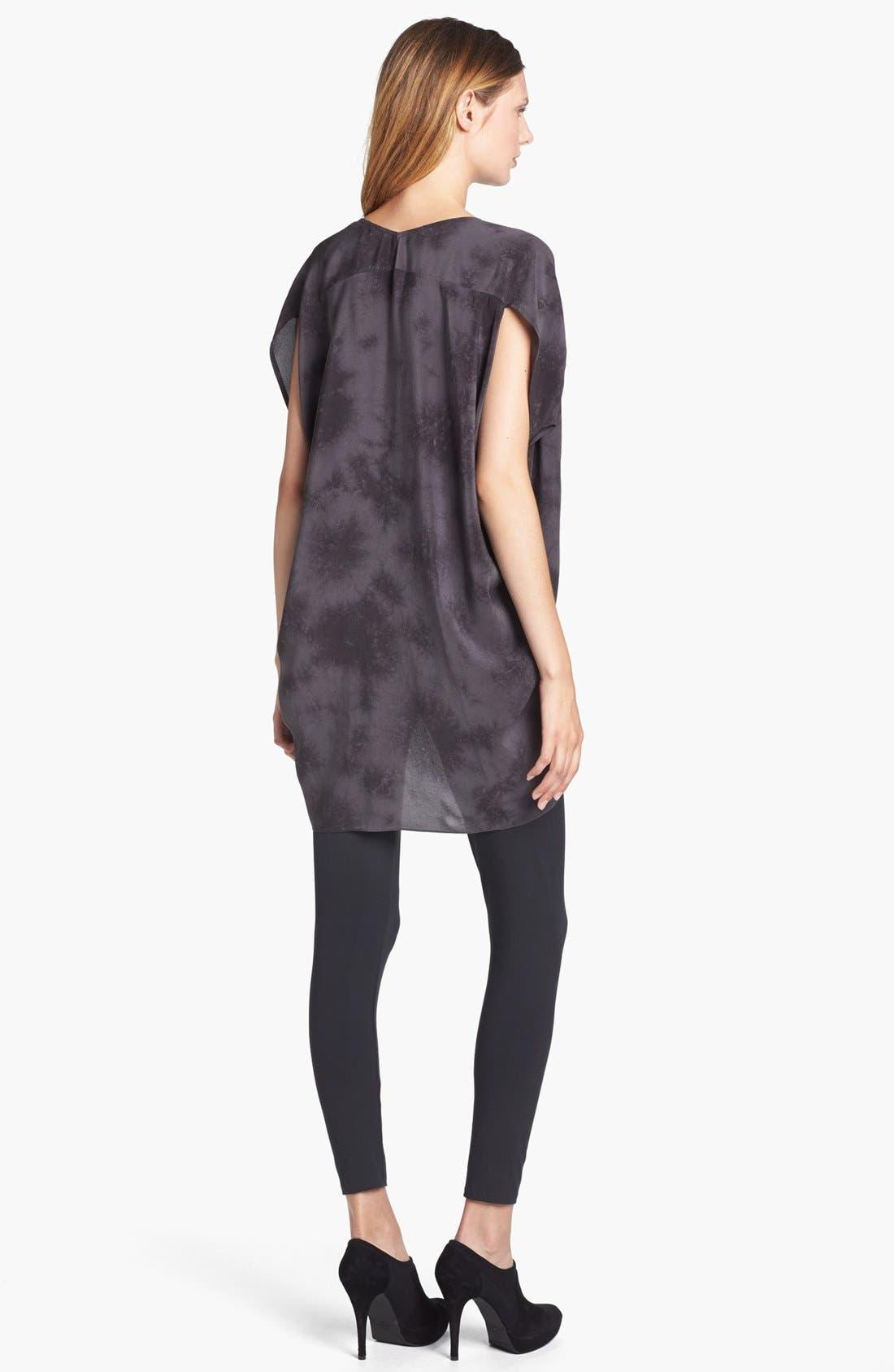 Alternate Image 3  - Eileen Fisher 'Crystalline' V-Neck Silk Shibori Tunic
